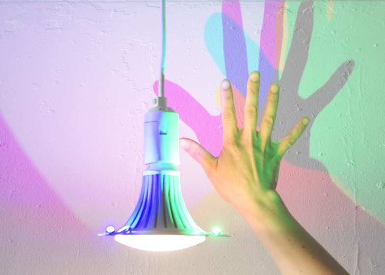 CMYK lightbulb shadows