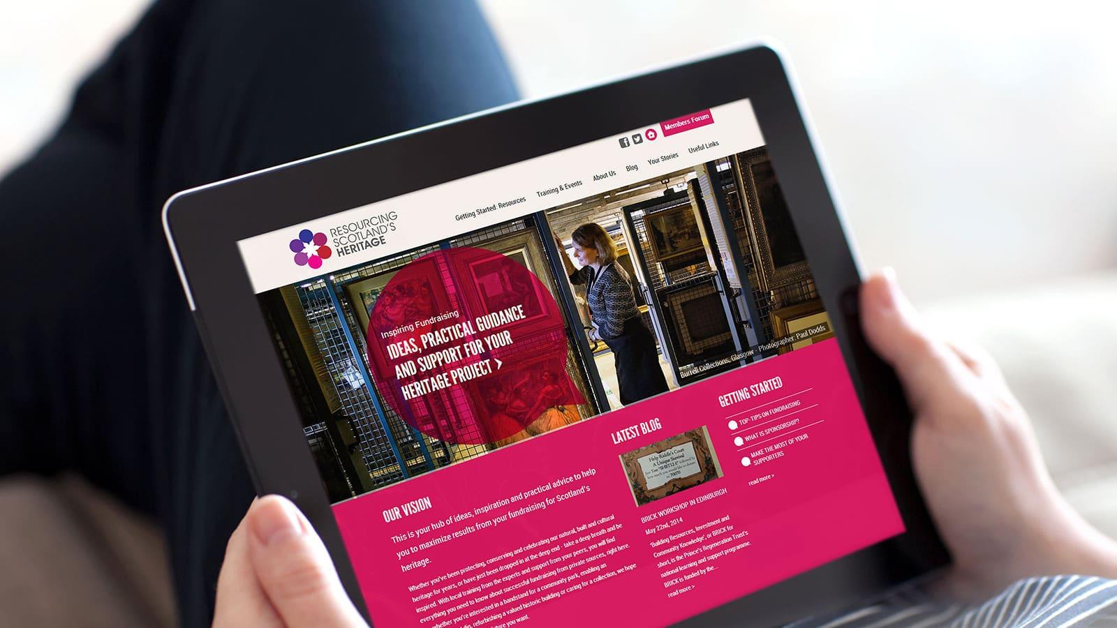 RSH Homepage image on ipad