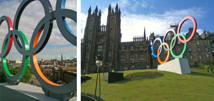 Olympic Rings on The Mound, Edinburgh