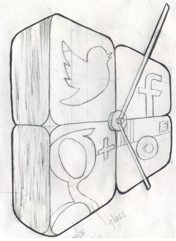 social media icon sketch