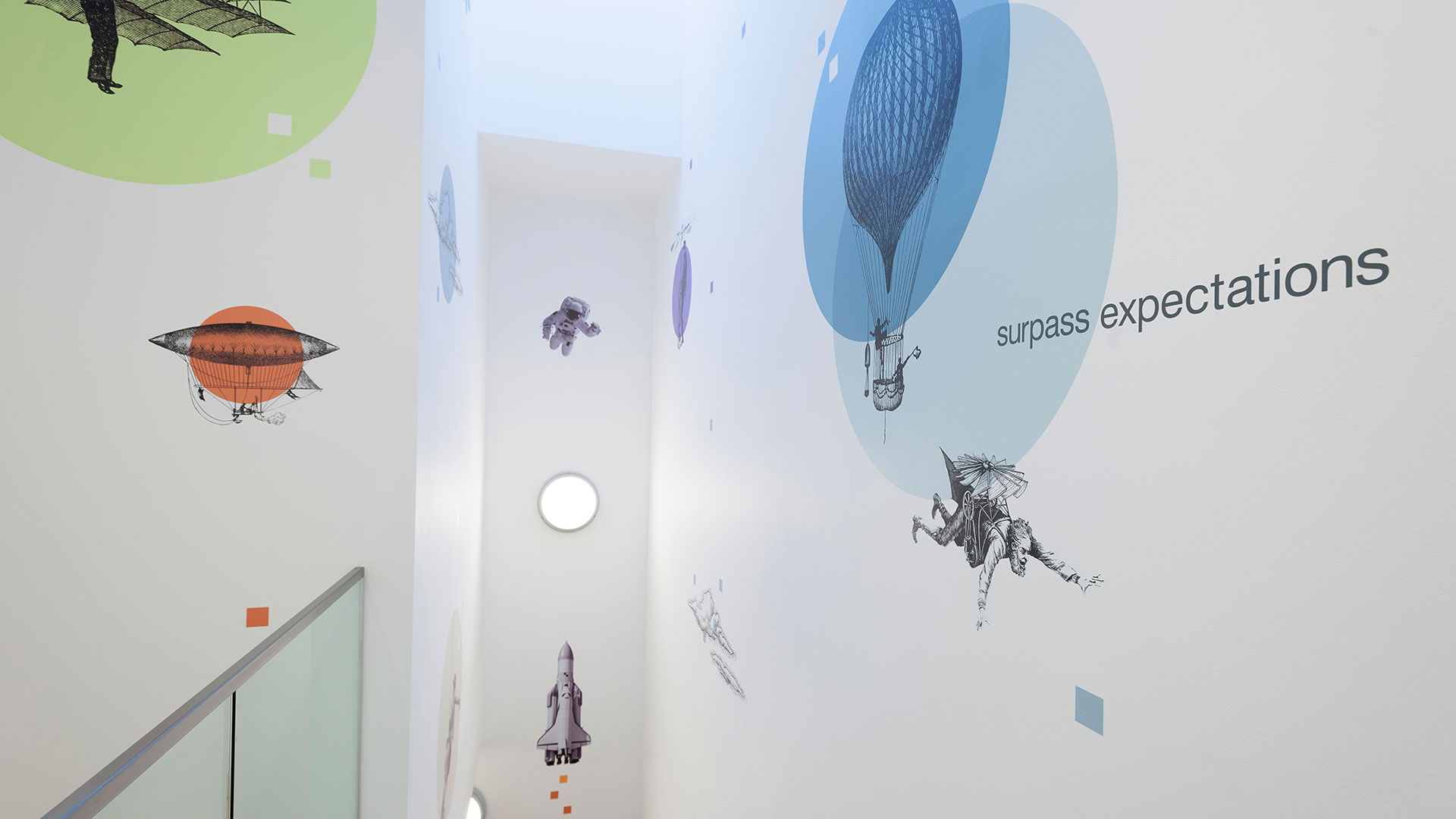 Brightsolid interior wall paintings