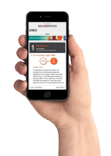 NHS Lanarkshire website on a phone