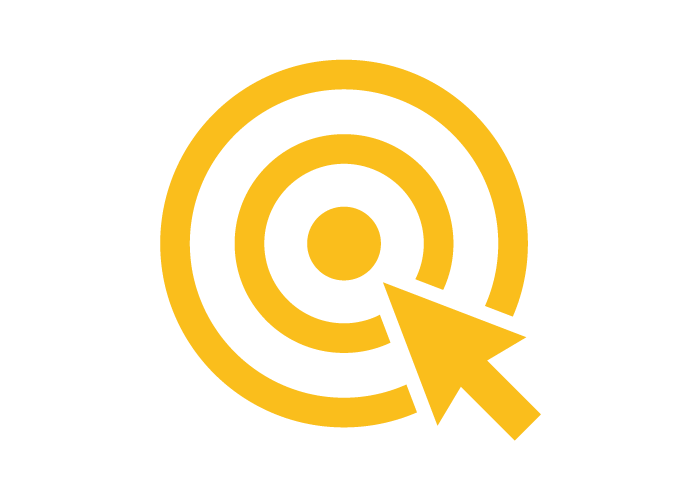 Digital advertising yellow icon