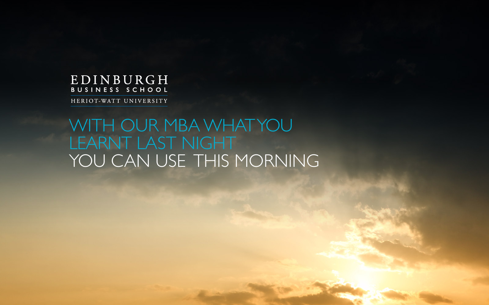 Edinburgh Business School - Advertising graphic