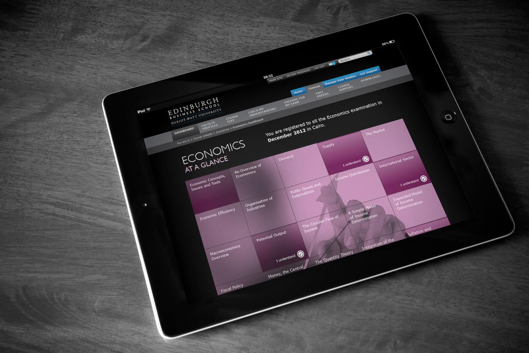Edinburgh Business School - Courses dashboard