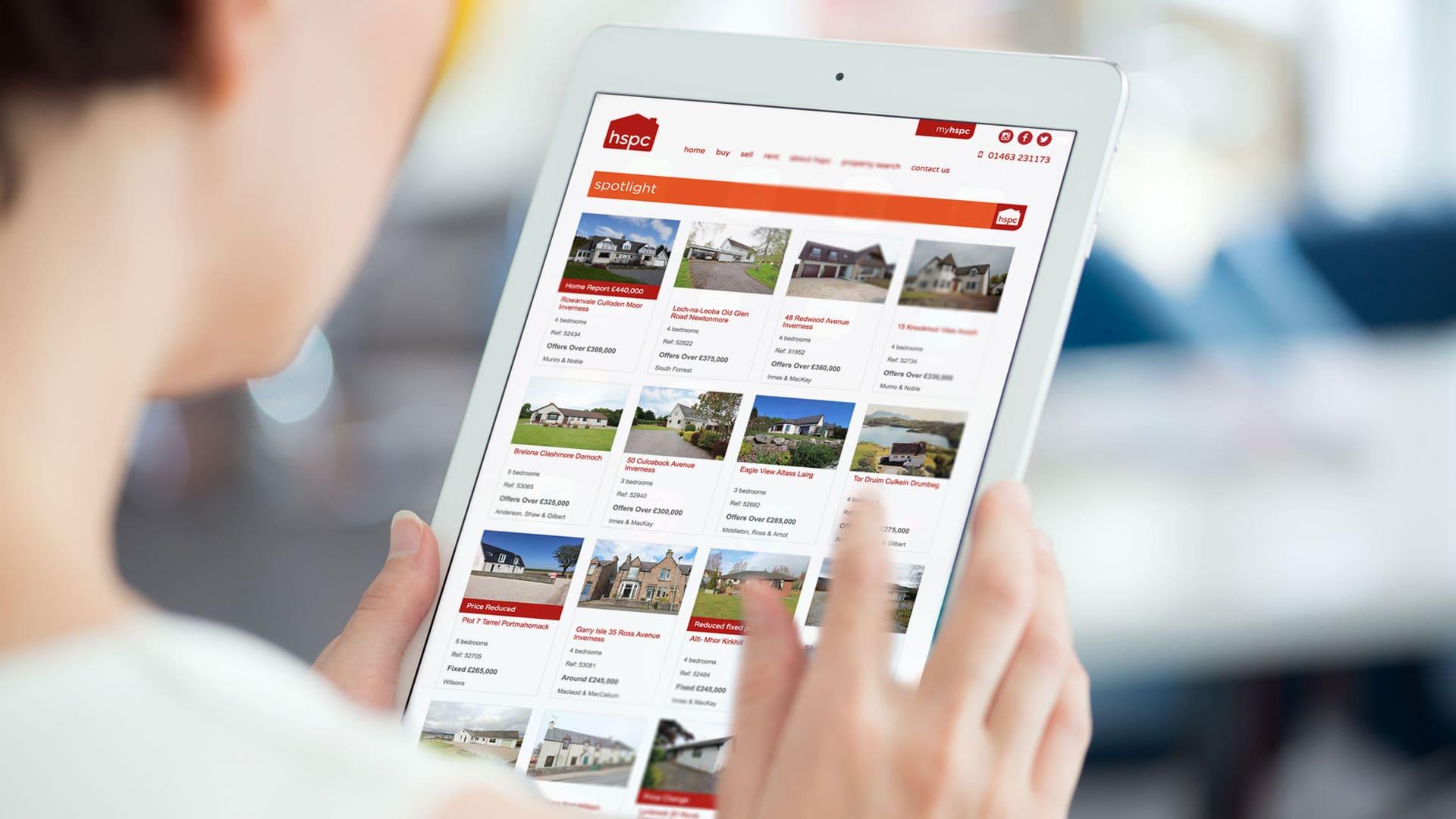 hspc website on a tablet