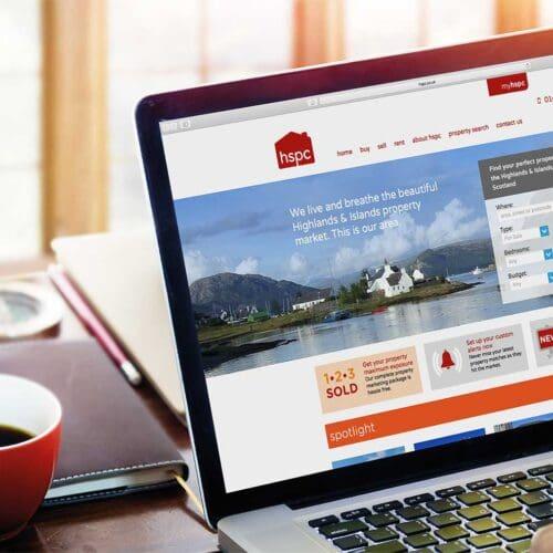 hspc website displayed on laptop