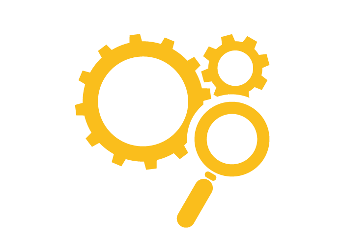 Search engine yellow icon