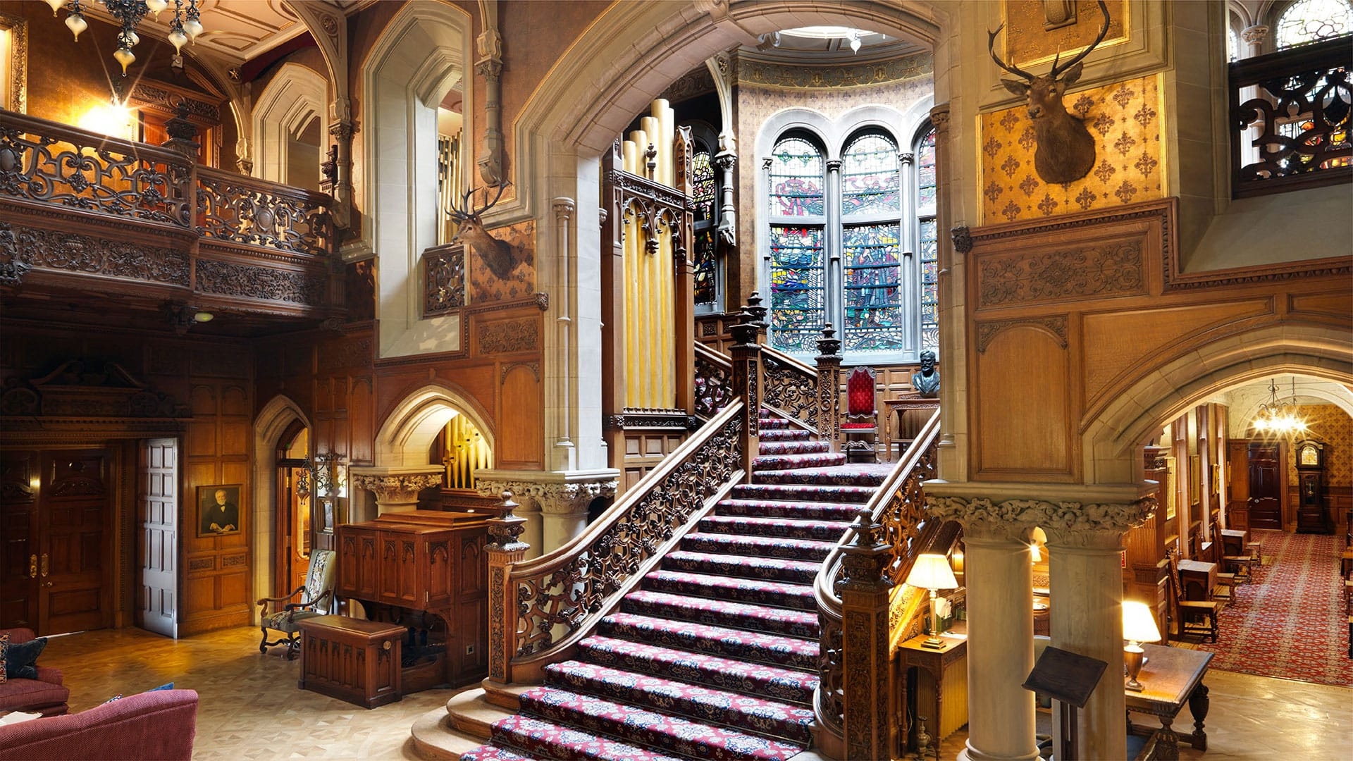 Decadent staircase found at Skibo