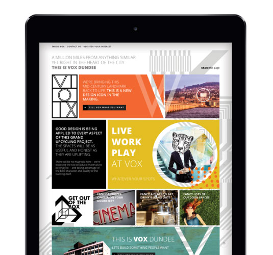 VOX website on a tablet