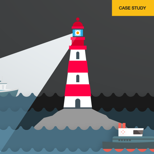 Edinburgh Business School Case Study lighthouse illustration