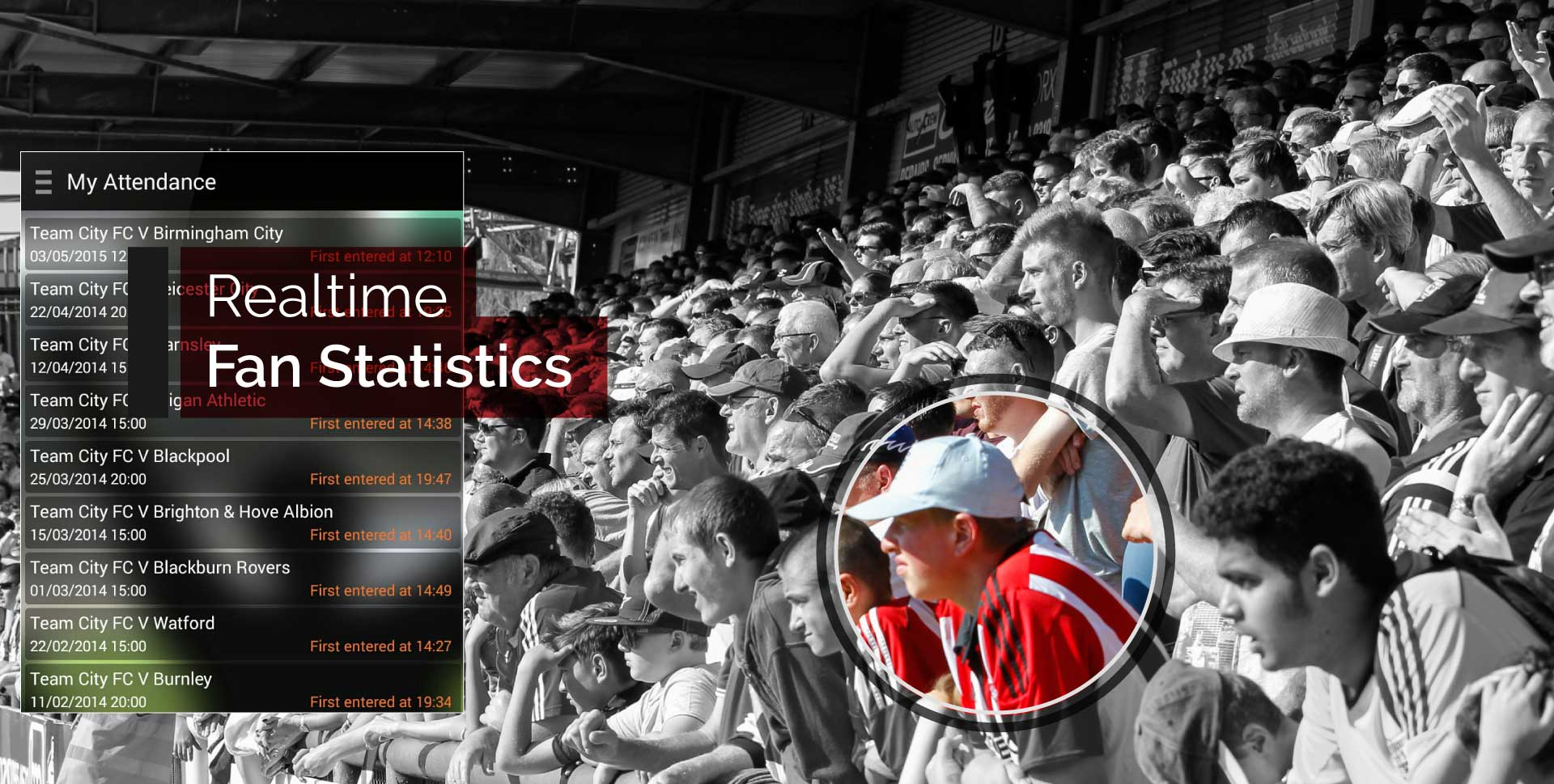 TeamCard realtime fan stats