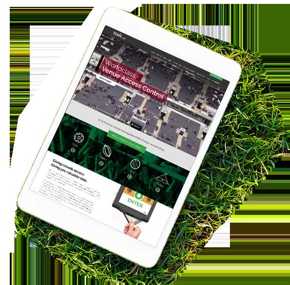 TeamCard website on a tablet