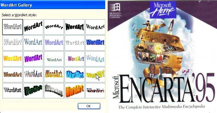 Encarta and Wordart