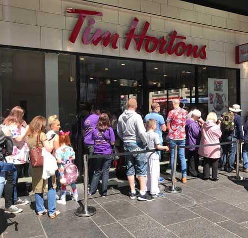 Tim Hortons queue