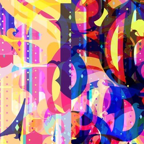 colourful font image
