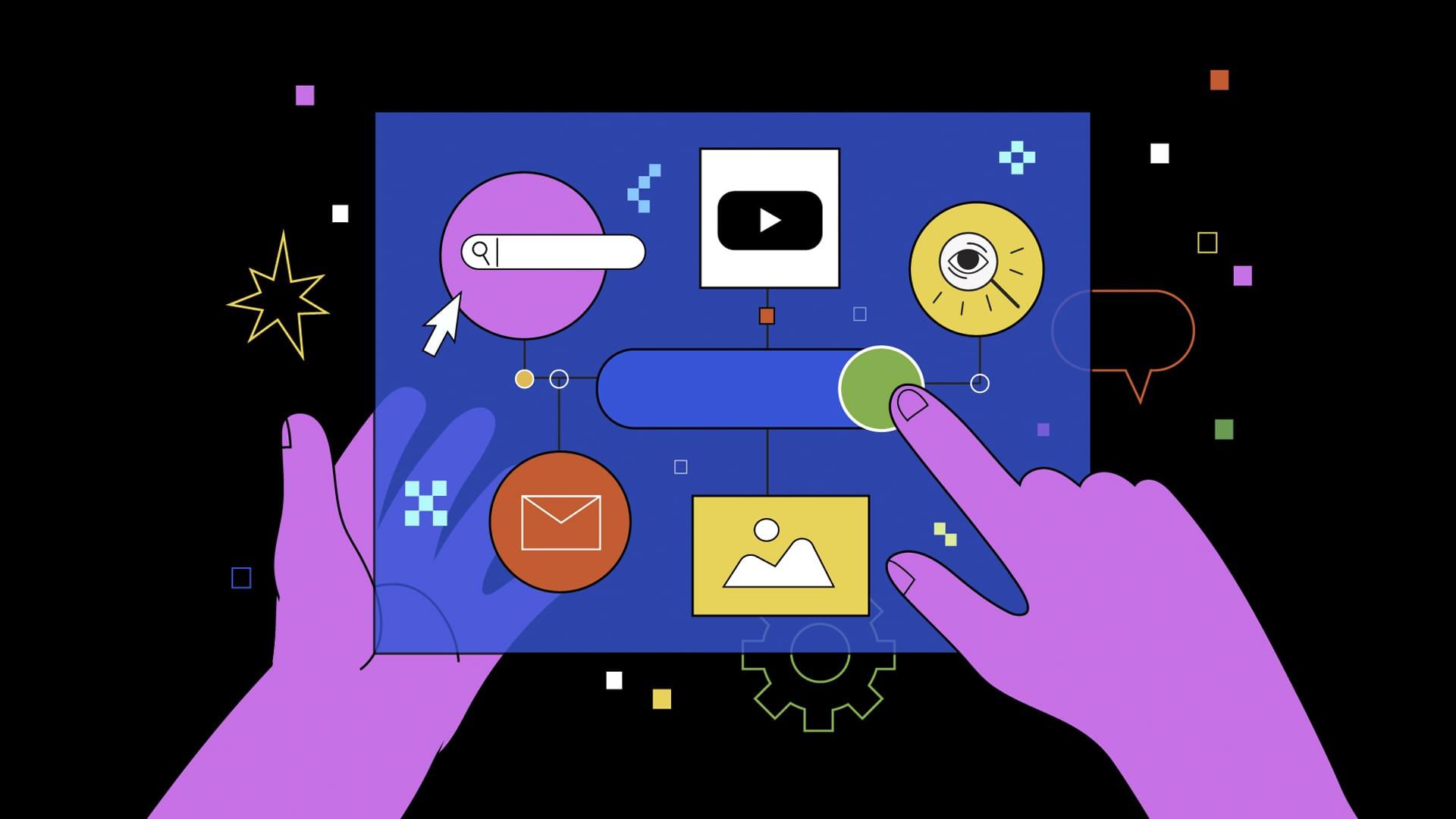 Illustration of the future of digital advertising